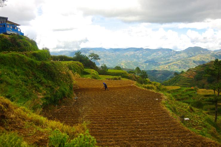 段々畑を営む人々、サガダまでの道のり