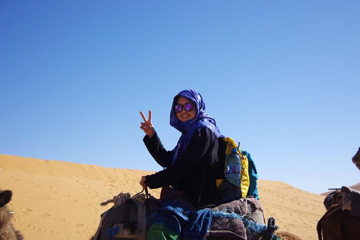 サハラ砂漠、1泊2日のラクダツアー