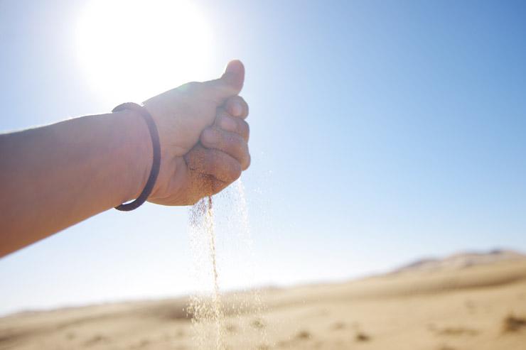 サハラ砂漠の砂