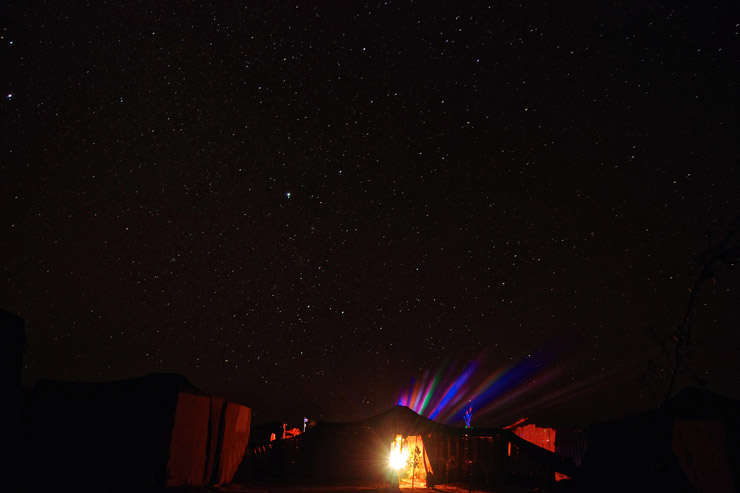 サハラ砂漠の夜空