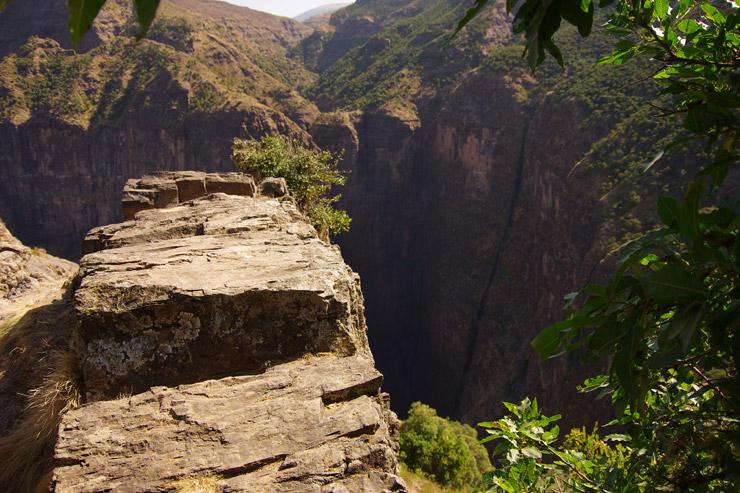 シミエン国立公園 枯れた滝