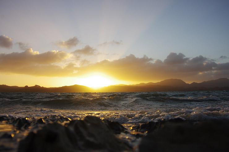 ノースランド(ニュージーランド北部)の夕陽