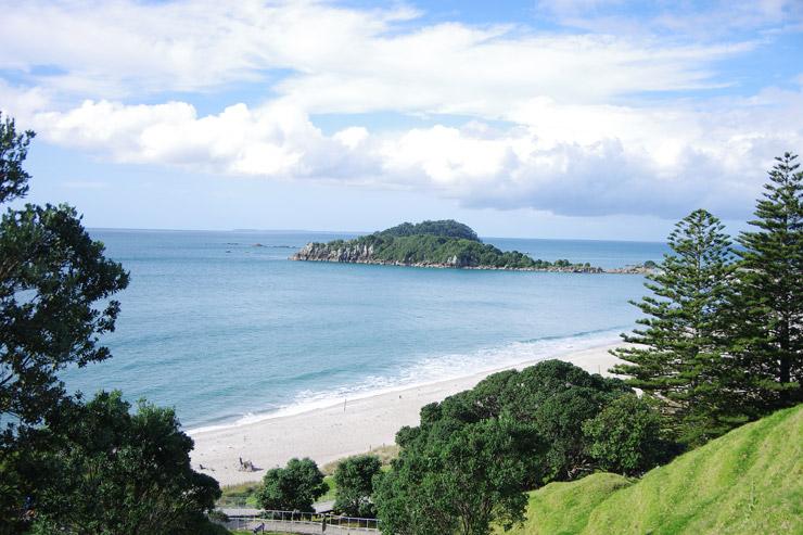 タウランガのビーチ