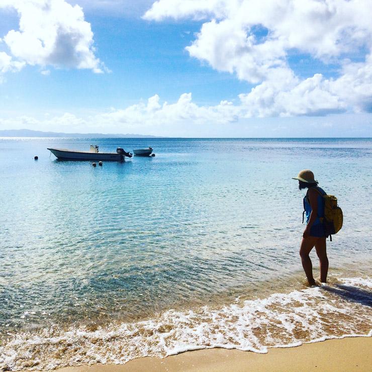 タベウニ島のビーチ