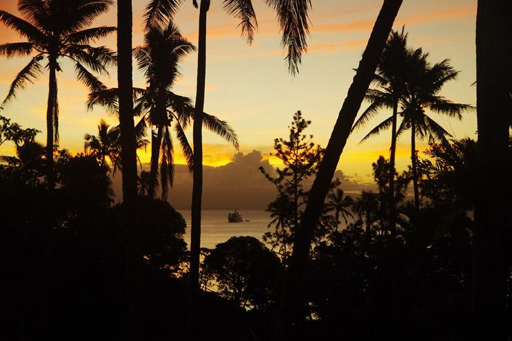 タベウニの夕日