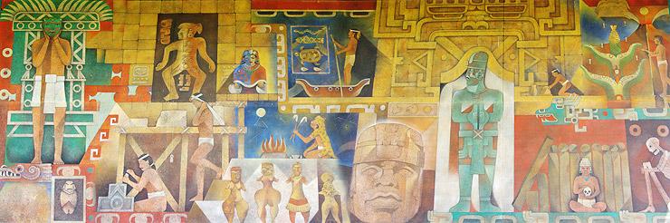 博物館の壁画