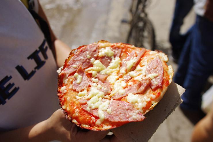 キューバのピザ