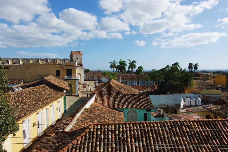 聖堂の鐘楼から見下ろす町並