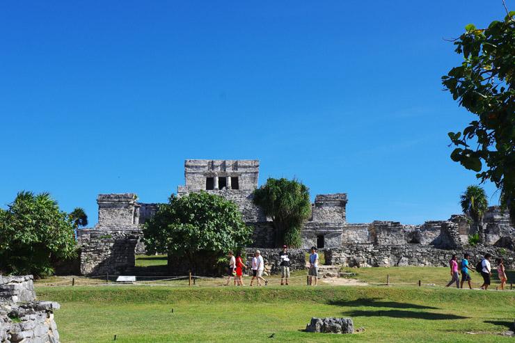 トゥルム遺跡のメインとなる神殿、カステージョ