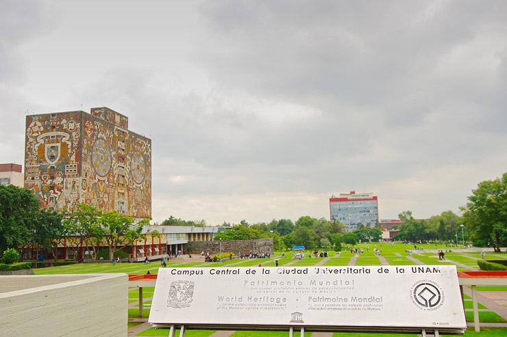 メキシコ国立自治大学(UNAM)の中央大学都市キャンパス