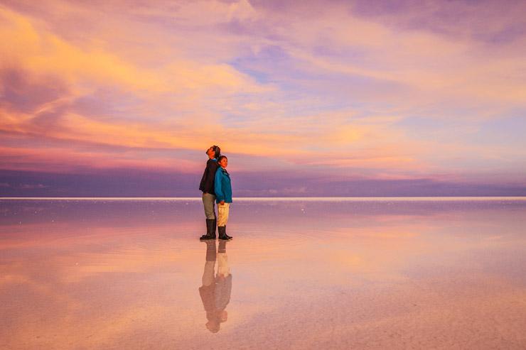 世界一の絶景と噂されるウユニ塩湖のサンセットツアー
