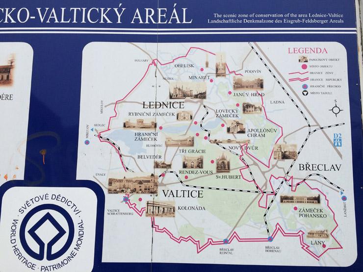 ヴァルティツェの地図