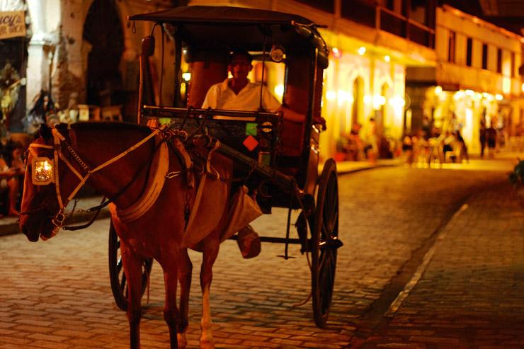 夜の世界遺産『ビガン歴史都市』の写真