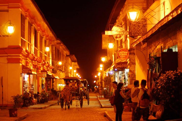 夜のビガン歴史都市