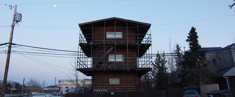 ヒストリーマークの付いた建物
