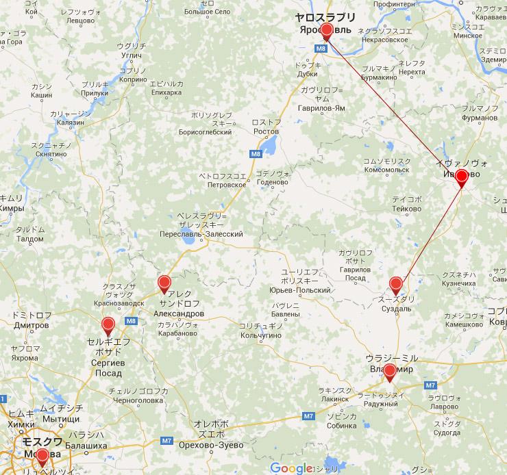 ヤロスラヴリからスーズダリへの行き方