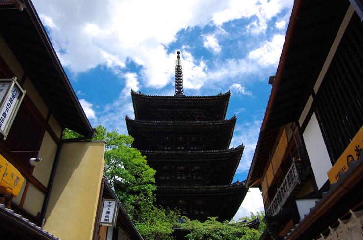 法観寺の重要文化財 八坂の塔